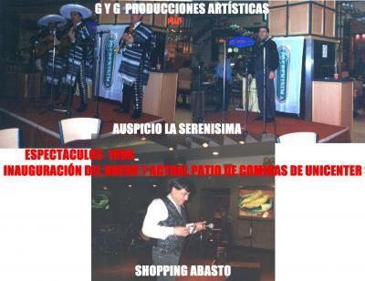 BREVE HISTORIA DE G Y G  PRODUCCIONES ARTÍSTICAS - 1998 -EVENTOS ARTÍSTICOS