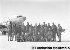 Dotación de hombres en la Base Marambio